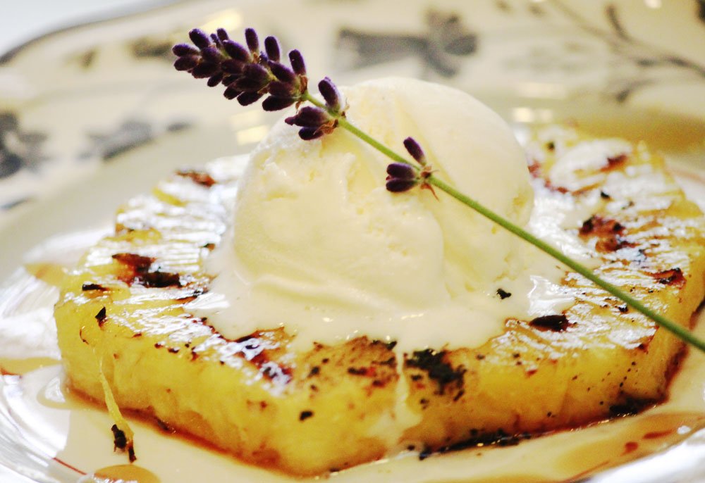 Grilled Pineapple with Pink Peppercorns & Lavender | Discover Lavender