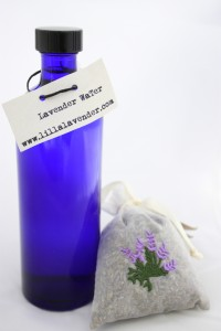 Lilla's Lavender Water in Blue Bottle