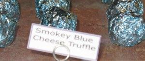 Chocolate Truffle with smoky blue cheese