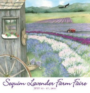 Sequim Lavender Farmers 2011 Wining Poster Art