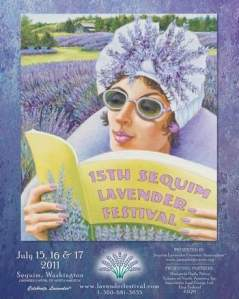 """Mona"" winning poster art for Sequim Lavender Growers 2011 Contest"