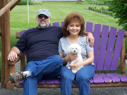 Steve and Carmen Ragsdale with their dog, Sugar